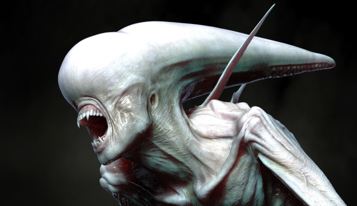 Alien: Covenant Early Neomorph Concept Art by Colin Shulver!