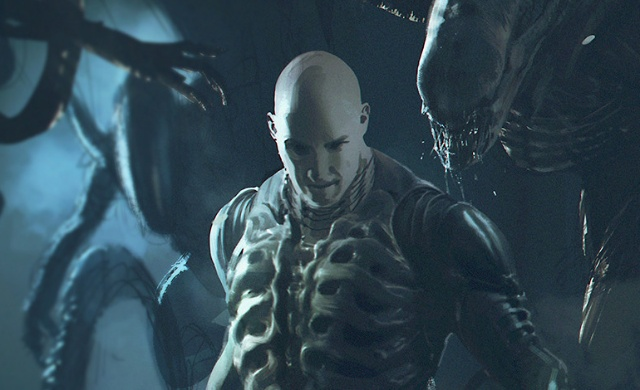 An Engineer battles Xenomorphs in epic Prometheus / Alien: Covenant fan art!