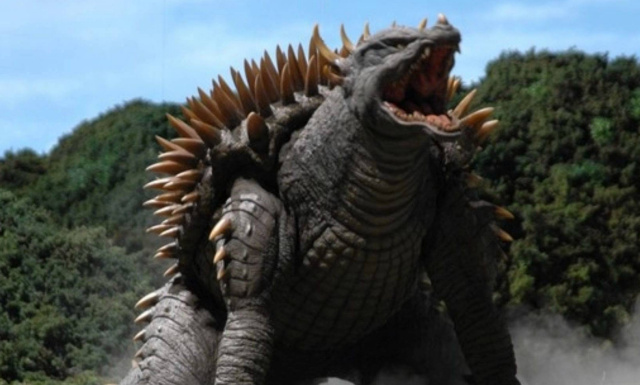 Anguirus looking Titan spotted in official Godzilla 2 movie art book!