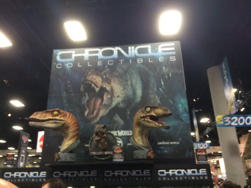 Chronicle Collectibles displays its Jurassic World products at Comic Con!