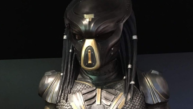 Close-up view of new Predator suit from The Predator!