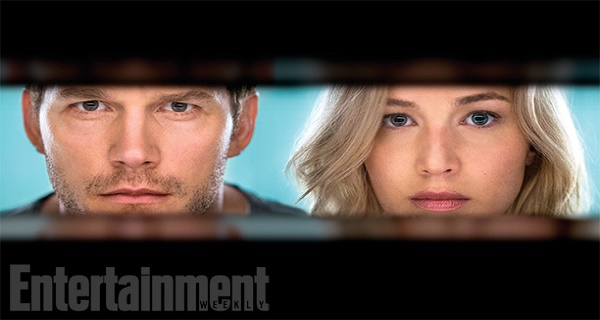 First photos of Jennifer Lawrence and Chris Pratt in Passengers!