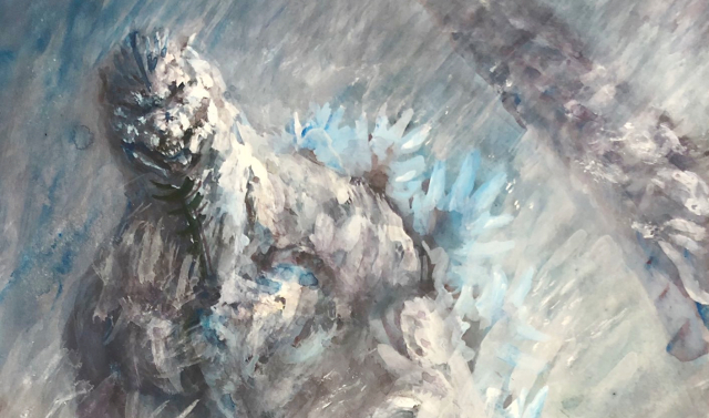 Fan Art Spotlight: Awesome Snow Godzilla paintings by GNA