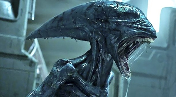 First official look at part of an Alien from Alien: Covenant being constructed!