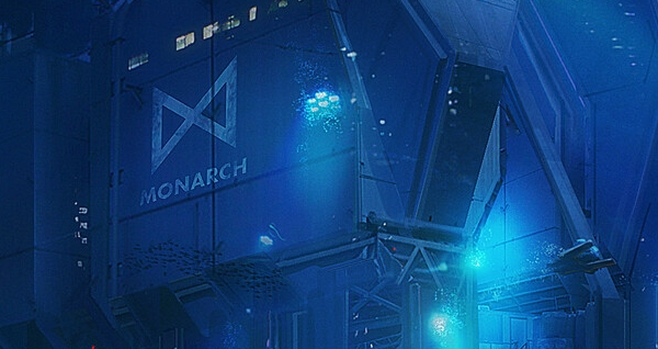 Godzilla 2 Concept Art: Underwater Monarch Facility by Gia Nguyen