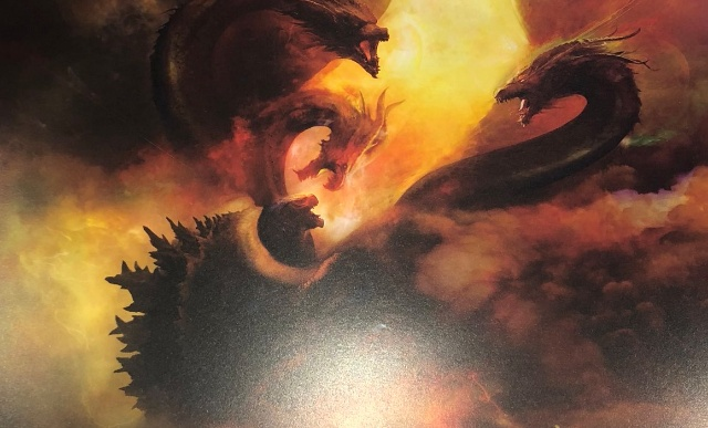 (UPDATED) Godzilla battles Ghidorah on new official King of the Monsters poster!