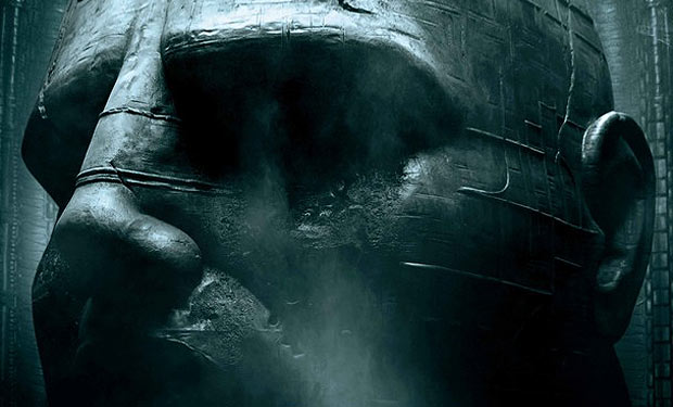 Humanoid head statue from Prometheus under construction for Alien: Covenant!