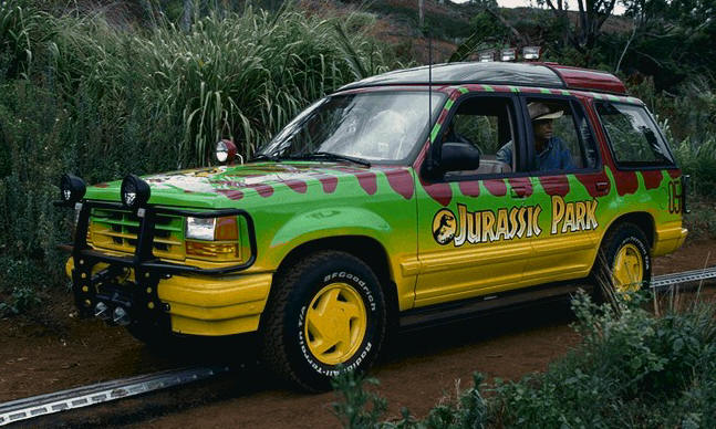 Jurassic Park Ford Explorer spotted on way to Jurassic World 2 set!