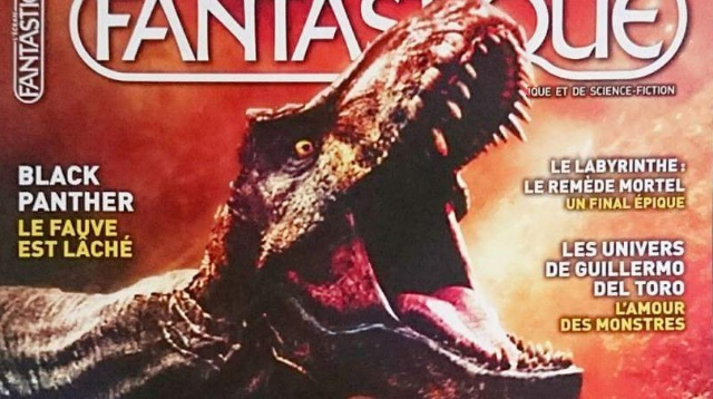 Jurassic World: Fallen Kingdom dawns the cover of L'Ecran Fantastique magazine!