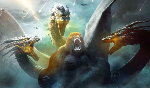 Kong battles King Ghidorah in epic new Godzilla vs. Kong fan artwork!