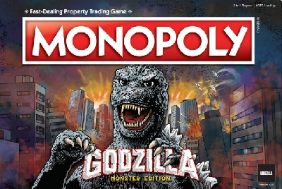 Acquire Monsters and their domains with this NEW Godzilla Monopoly game!