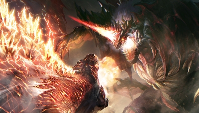 Burning / Fire Godzilla battles Monsterverse Destroyah in epic new fan artwork!