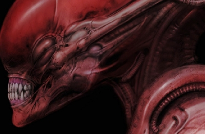 Carlos Huante shares Red Xenomorph artwork!