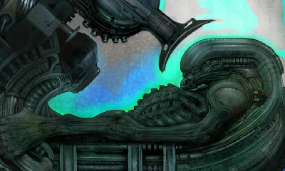 Carlos Huante unveils rare Prometheus and Covenant Alien / Space Jockey artwork concepts!