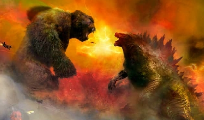 Epic Godzilla vs. Kong poster artwork by Christopher Shy!