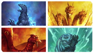 Godzilla: King of the Monsters Titan posters, Showa style!