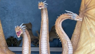 Insane New King Ghidorah (2019) Statue Image