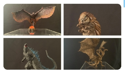 New Godzilla: King of the Monsters Art Spirits figures coming this October!
