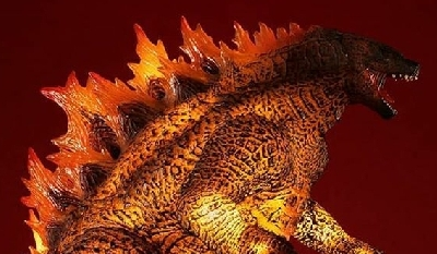 New light-up / roaring Burning Godzilla 2019 statue revealed!
