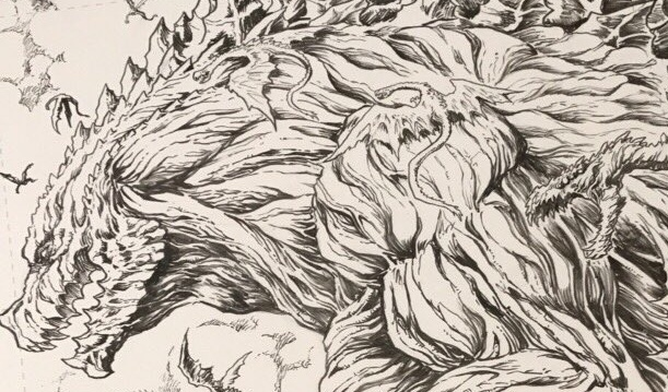 Matt Frank teases Godzilla: Planet of the Monsters art piece!