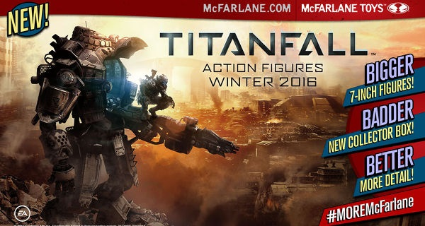 McFarlane Toys teams up with videogame giant Titanfall to produce Titanfall 2 action figures!