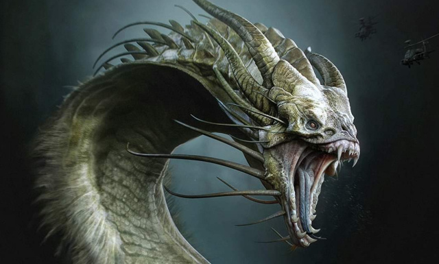 (UPDATED) More Godzilla 2 movie King Ghidorah concept art by Ken Barthelmey