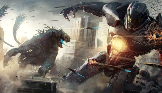 Pacific Rim Uprising fight scene and Kaiju movie artwork!
