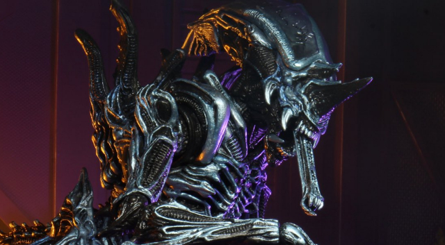 Rhino Alien V2 Xenomorph figure images showcased by NECA!