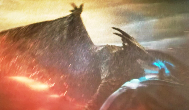 Rodan viciously battles Mothra in Godzilla 2: King of the Monsters!