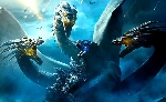 Russian Godzilla: King of the Monsters poster features Ghidorah wrestling Godzilla!