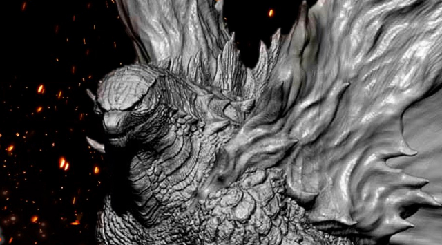 Spiral Studio tease upcoming Burning Godzilla / Mothra Pulse maquette!