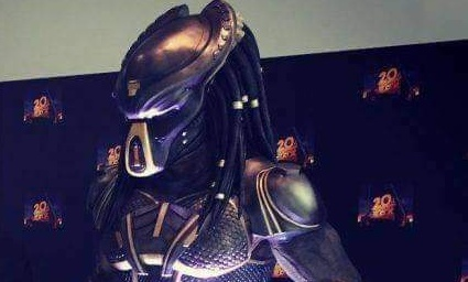 The Predator (2018) new design and armor spotted on display at CineEurope!