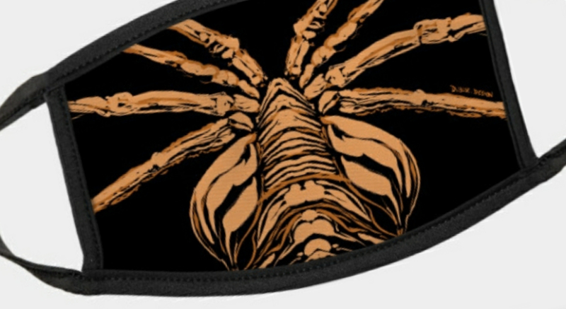 These Alien Facehugger Covid masks make for the perfect face coverings!