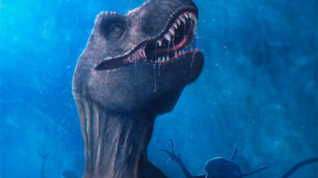 This Alien vs. Jurassic Park fan art pits Xenomorphs against a T-Rex!