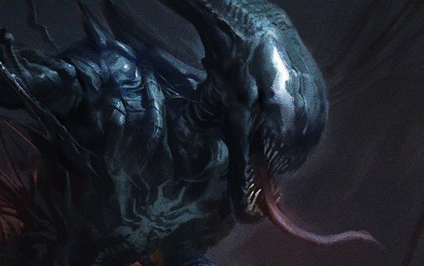 Venom Symbiote bonds with Alien Xenomorph in epic fan art!
