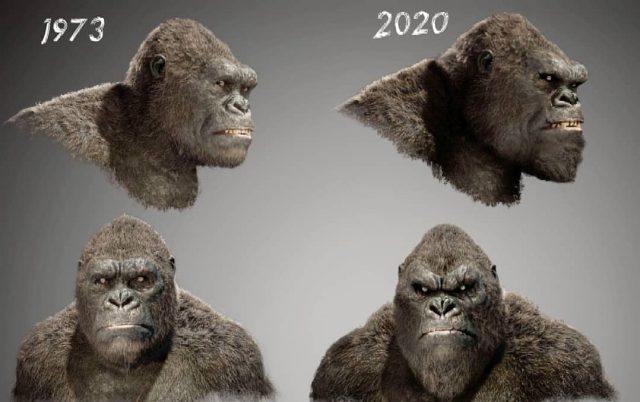 Visual comparison of the new Kong from Godzilla vs. Kong (2020) and Skull Island!