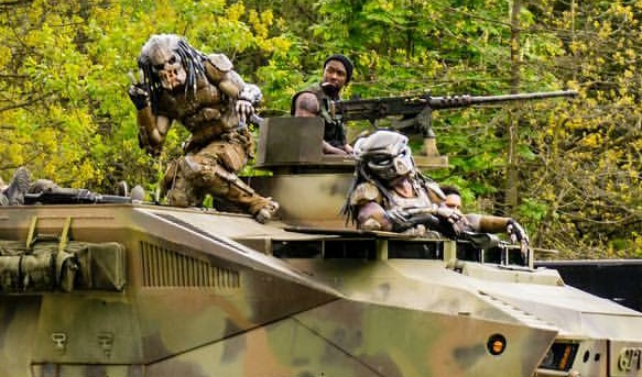 Image result for predator 4 on set images