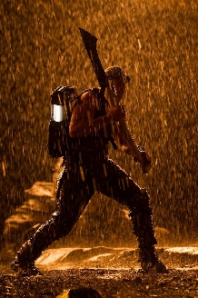 Riddick Hunting in the Rain
