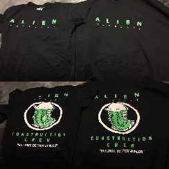 Alien: Covenant construction crew shirts