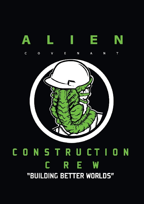 Alien: Covenant crew shirt design