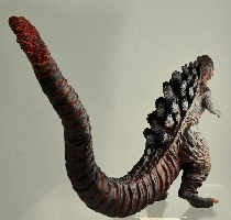 Back side view of Shin #Godzilla HG.