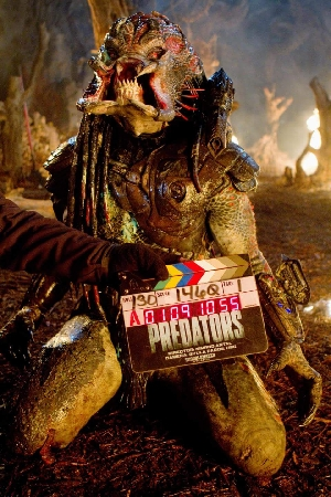 Berserker Predator on set of Predators