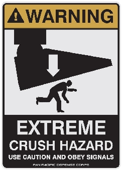 Shatterdome caution sign - PPDC