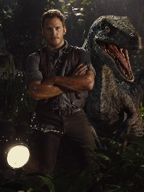 Chris Pratt and Animatronic Raptor