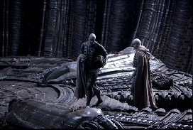 Cloaked Engineers enter the Orrey in Prometheus