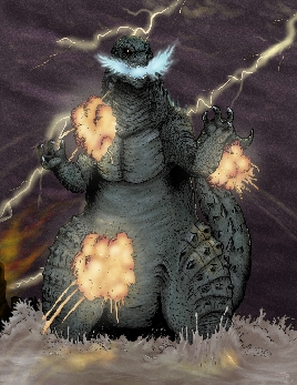 Destroyer of Worlds Godzilla 2014 Fan Art