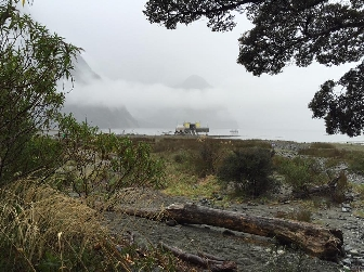 Distant shot of the Alien: Covenant set in New Zealand