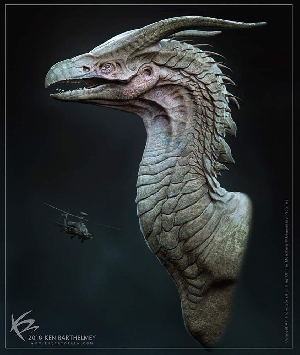 Early Rodan Concept by Ken Barthelmey