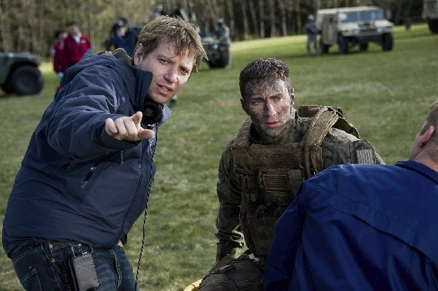 Gareth and Aaron on set of Godzilla (2014)
