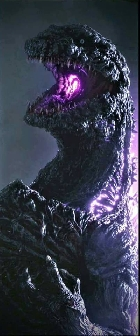Godzilla's new purple atomic breath in Godzilla Resurgence